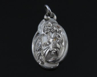 Vintage Creed Sterling Silver Religious Pendant