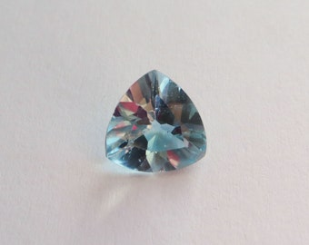 10mm trillion cut Natural Topaz Gemstone, 3.6 carats, transparent sky blue color, for your jewelry project