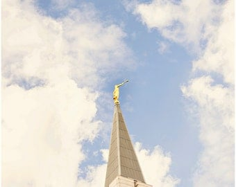 Vancouver BC LDS Temple Fine Art Canvas wrap -Mormon -Canada -Angel Moroni -4 options