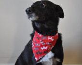 Over Collar Dog Bandana - Scottie Dogs  -  Free Worldwide Shipping - Profits to Dog Rescue