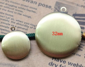 5pcs Antique Bronze 32mm Locket Pendant L05744--20% OFF