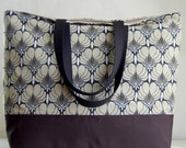 Imperial Fans Black XL Extra Large Beach Bag / BIG Tote Bag - Ready to Ship