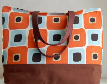 Sweet Potato XL Extra Large Beach Bag / BIG Tote Bag - Ready to Ship