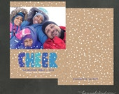 Snowy Cheer Multi Photo Holiday Card