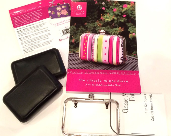 The Classic Minaudiere DIY Clam Shell No-Sew Clutch Purse Pattern and Frame Set (#115A)