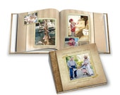 Family Photo Book - A STITCH In TIME -  Photoshop Templates for Photographers. 10x10 Square Photo Book - 20 Pages Plus Cover Design.