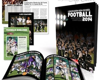Soft Cover Sports Event Book  - SIMPLY SPORTS YEARBOOK -  Photoshop Templates for Photographers. 8.5x11 Event Book - 24 Pages & Cover Design