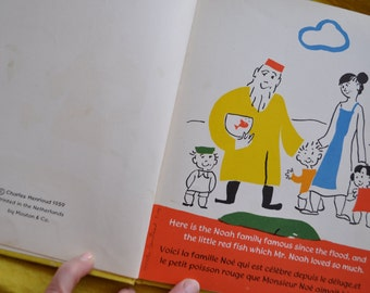 Mr. Noah and The Animals/Vintage 1950s/Children's Picture Book/Charming Illustrations/by Matias