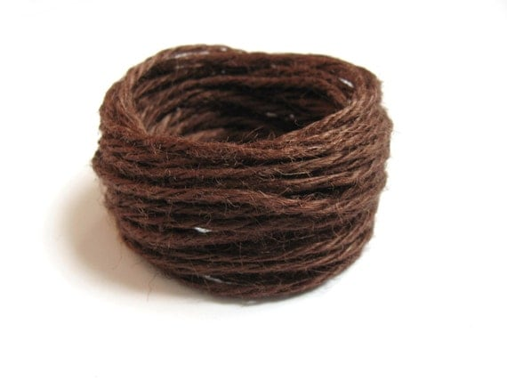 Colored jute twine Brown 5m / 16.4 ft C23