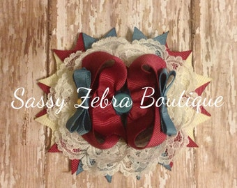 Country Chic Stacked Bow