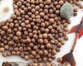 Khaki Brown Acai Beads, 100 Beads / Natural Eco Friendly Beads from the Amazon, Boho Beads, Yoga, Renewable Seeds, Organic / Light Brown