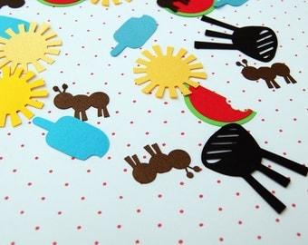 picnic confetti 150 pieces cardstock summer confetti by urbansavanna cardmaking embellishment