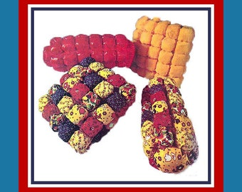 """Vintage 1971-GROOVY PUFF PILLOW Collection-Sewing Pattern-14"""" Square-16"""" Bolster-Plain or Fun Patchwork Styles-Easy To Make-Uncut-Rare"""
