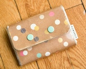 Gold Spotted - Double Snap Wallet