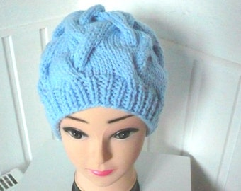 Womens Chunky Beanie,Hat in the colour Blue