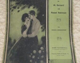 Vintage Sheet Music Blue Eyed Sally 1924 SALE