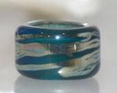 Silver River Glass Dread Bead with 8.5mm hole