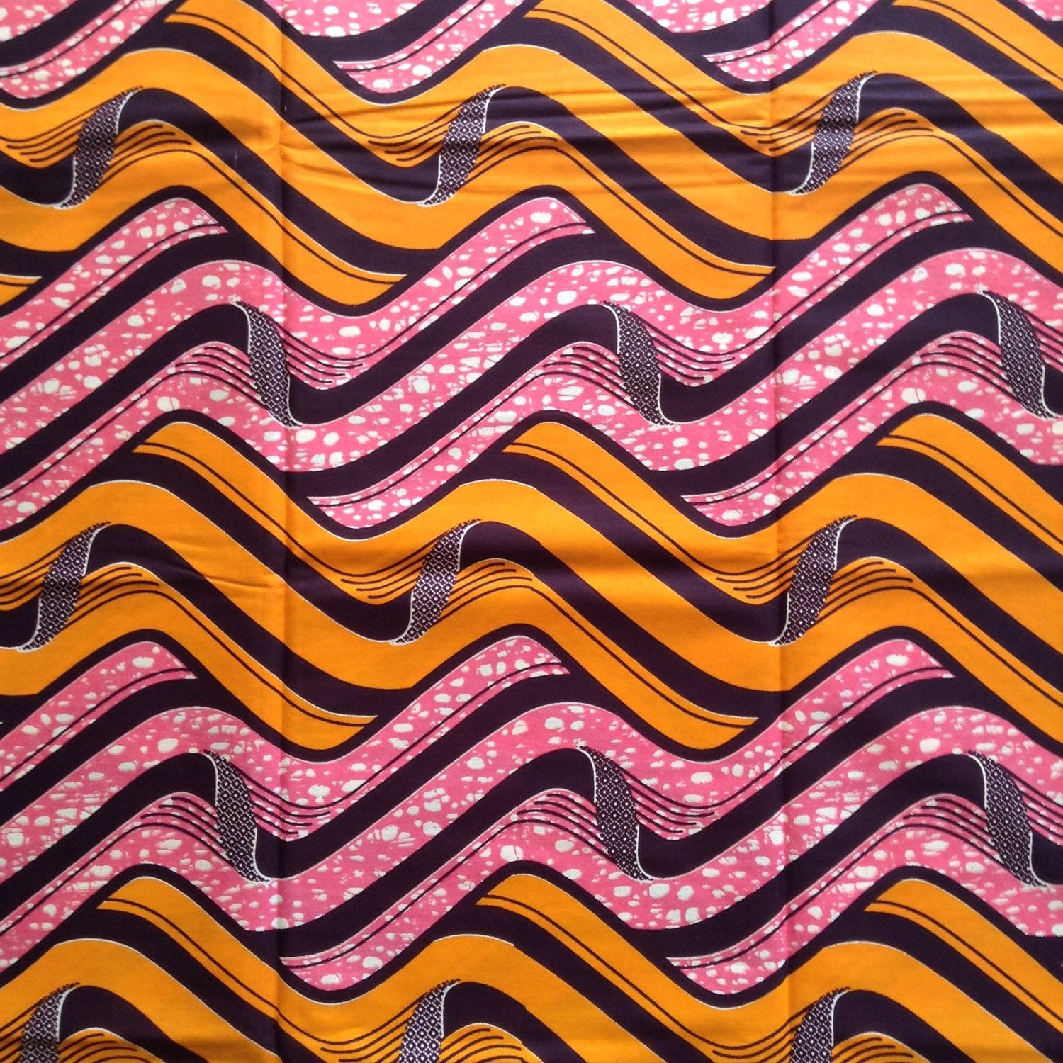Orange and Pink Tribal print wax Fabric-by-the-yard by ...