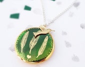 Feather Locket Necklace