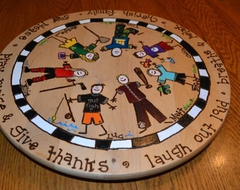 FAMILY LAZY SUSAN Each Member is Personalized With Custom Detailing