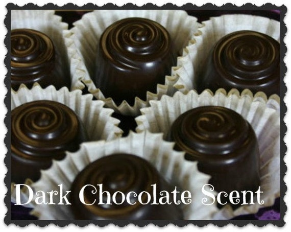 DARK CHOCOLATE Scented Wax Candle Tarts - Set Of 4 - Flameless Wickless Candle Wax Melts - Hand Poured - Handmade In USA
