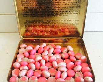 Antique Rawleigh's Medicine Tin Filled with Original Cold Tablets