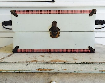 Vintage Pink Plaid Chest Becomes Today's Storage Box