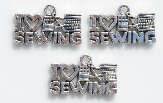 I love sewing charms - jewelry gift for sewers