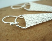Fine Silver PMC Triangular Geometric Earrings