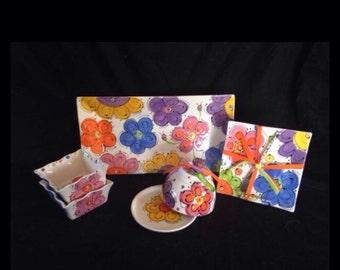 CrAzY DaSiEs Rectangle Serving Platter