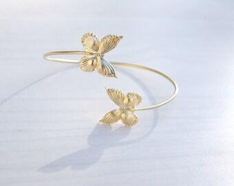 Butterfly  Arm Cuff, Gold Bracelet, Vintage Arm Cuff, Goddess Arm Band, Bridal  Bracelet, Bridal Jewellery