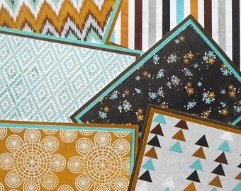 Notecard Set: 6 Different Blank Cards with Matching Embellished Envelopes - Free Spirit