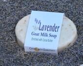 Organic LAVENDER GOAT'S Milk  Soap with Lavender Flowers