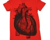 ladies ANATOMICAL HEART red t shirt