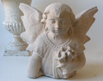 cement mourning angel