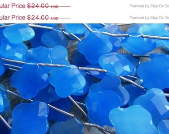35% OFF Carved Chalcedony briolette- 15-16mm, 6 matched pairs