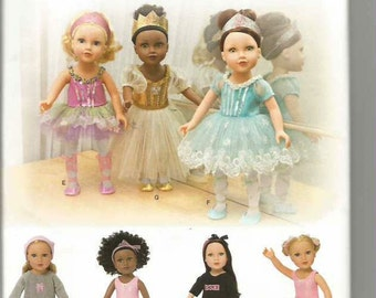 """18"""" Doll Clothes Pattern, Dance Costumes, Slippers, Frozen, American Girl"""