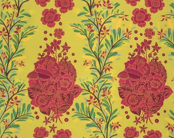 Folk Song from Anna Maria Horner Small Gatherings Floral in Citrus one yard
