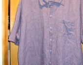 For Special Customer-Jeanne Engelhart by FLAX Pure Linen One Pocket Long  Shirt Size SMALL