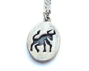 Sterling Silver Taurus Birthday Zodiac Astrology Jewelry, Bull Animal Taurus Charm Pendant Necklace, Sterling Silver Jewelry