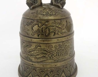 Chinese Temple Bell-Cast Metal