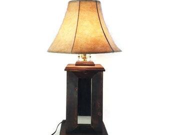 Rustic Table Lamp - Lodge Home Decor - Wood Lamps - Lighting