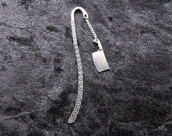 Cleaver bookmark in silver metal