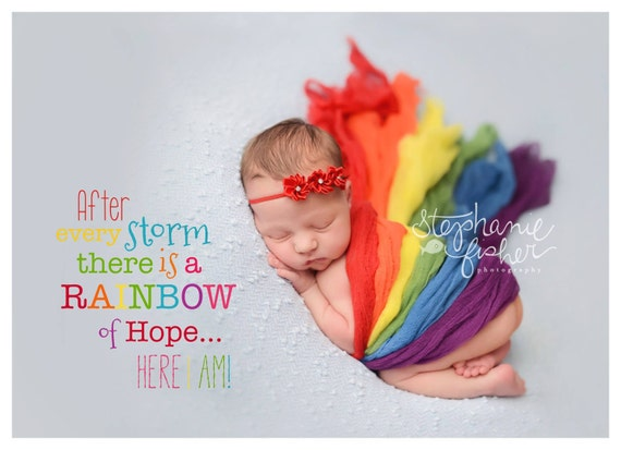 Rainbow Baby Cheesecloth Wraps - Set Of 6