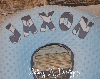 Personalized Boppy Nursing Pillow cover - Your choice of Minky and Fabric Print