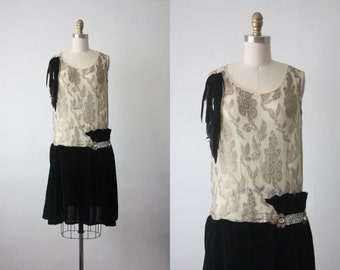 20s dress / afterfeather dress / 1920s dress