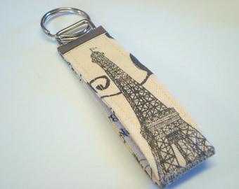 Key Chain, Wristlet, Key Fob Key Ring   Eiffel Tower