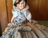 Vintage Boudoir Doll / Bed Doll Brazil Brazilian Flapper - Mariposa