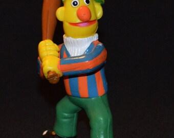 BERT baseball bat sesame street muppet PVC figure toy