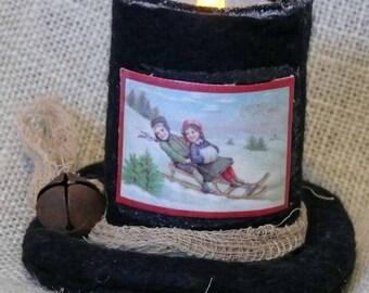Winter Wonderland Candle Hats Christmas Holiday Decoration